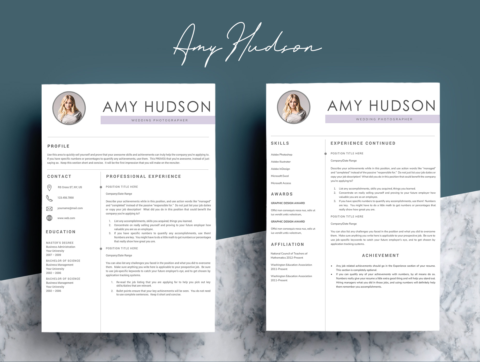Professional Resume Template word example image 4