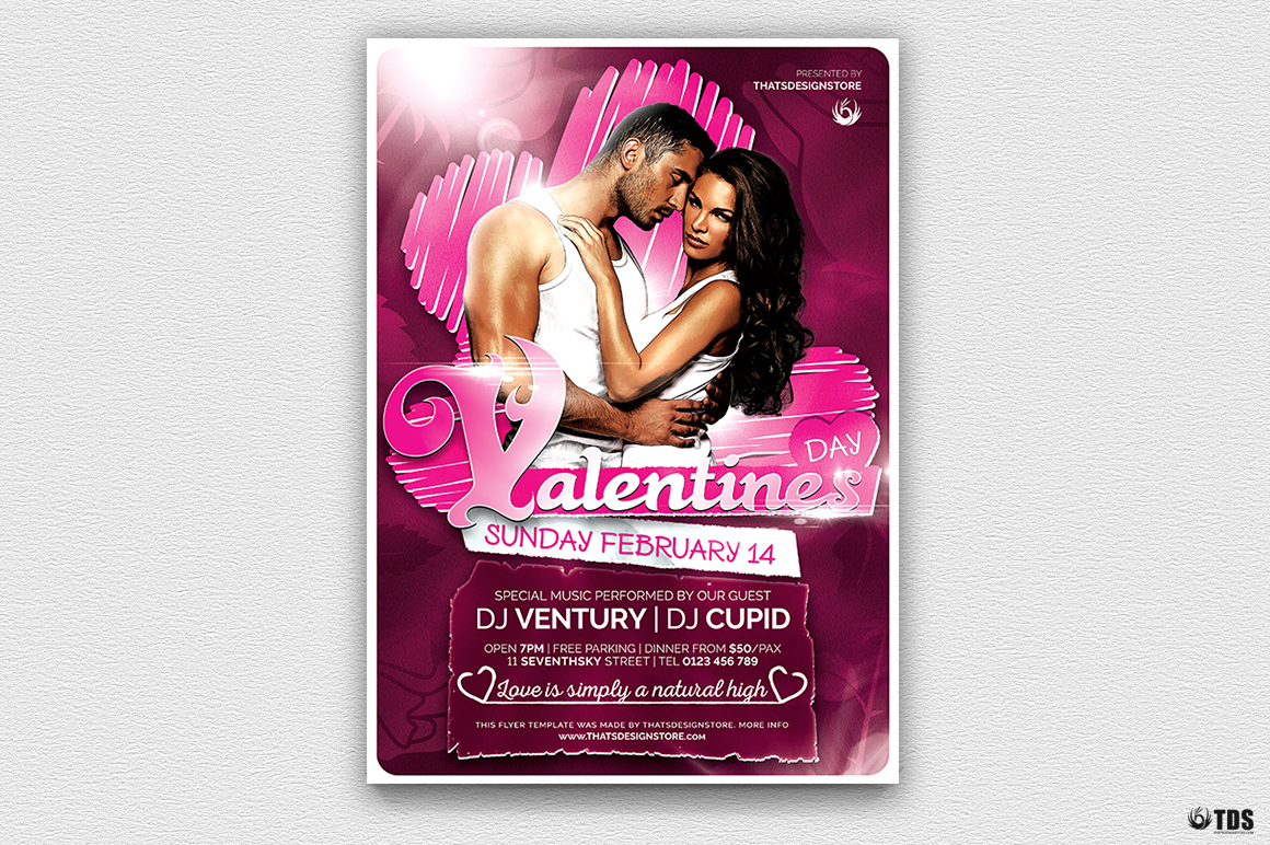 Valentines Day Flyer Template V7 example image 2