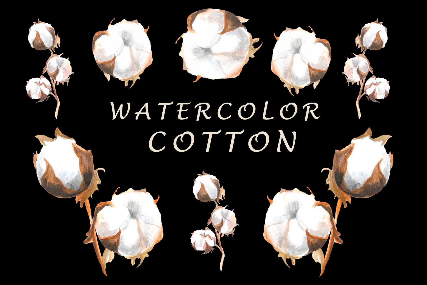 Watercolor cotton example image 1