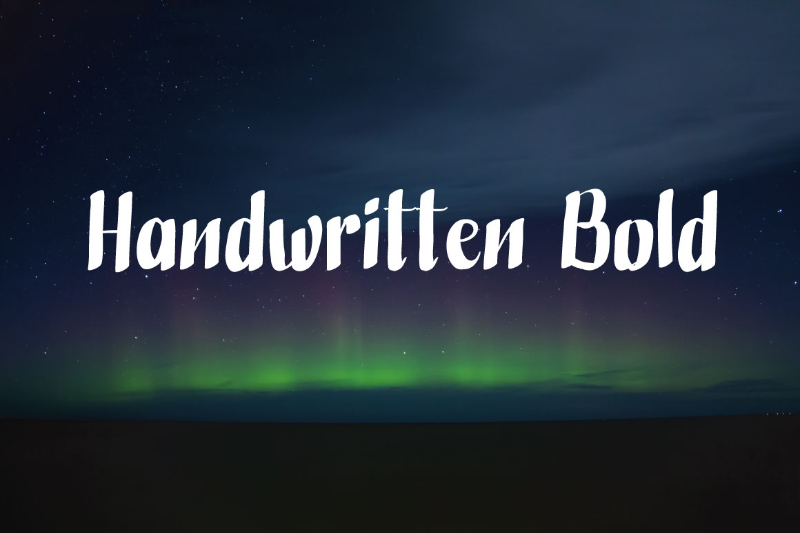 Handwritten Bold example image 1