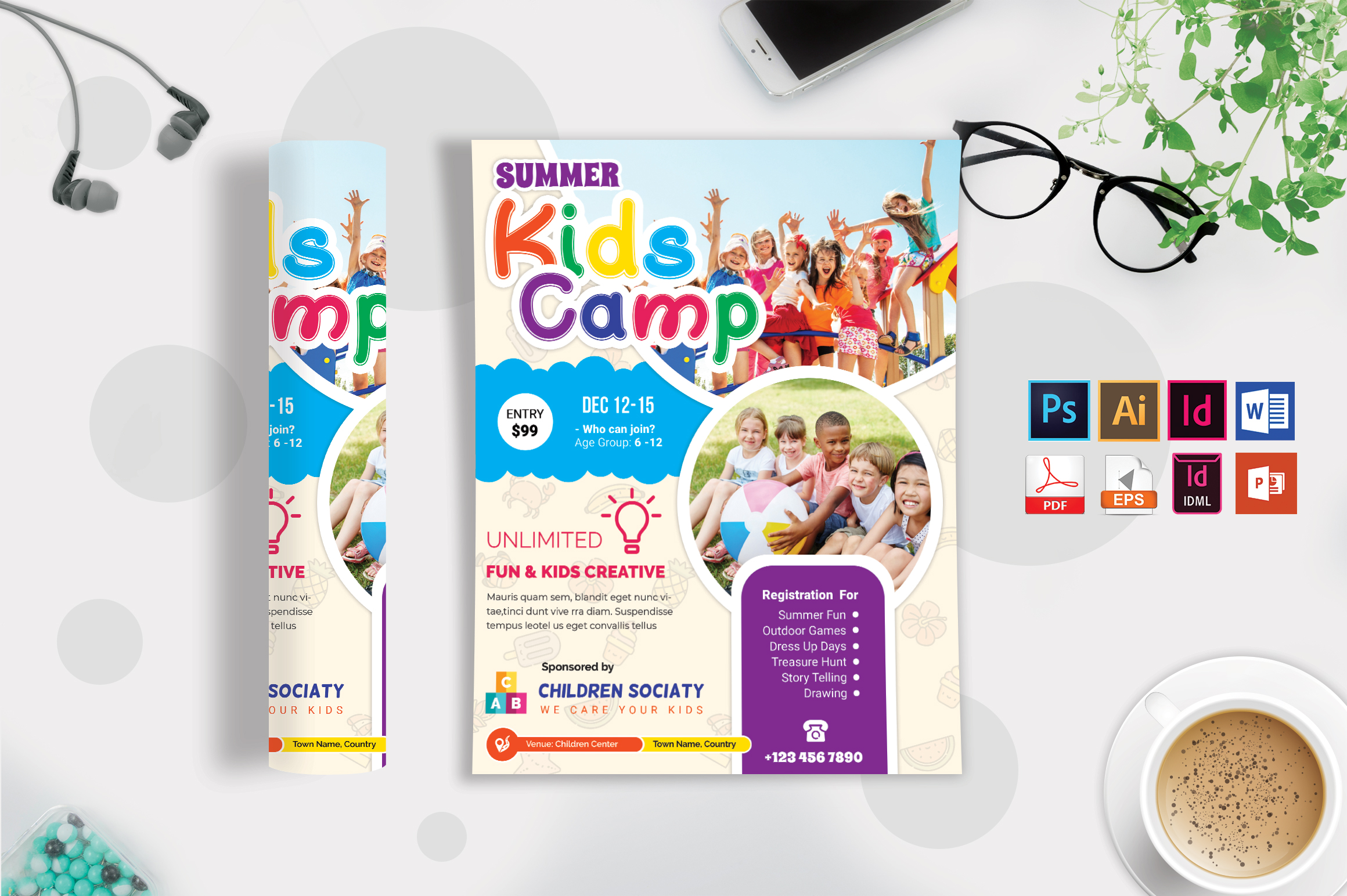 Kids Summer Camp Flyer Vol-09 example image 1