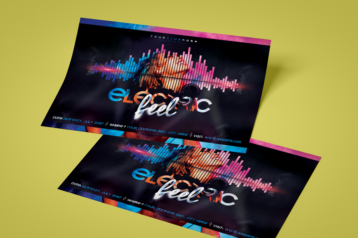 Electric Feel Flyer Template example image 2