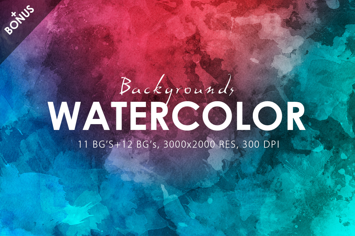 Only Watercolor Backgrounds Bundle example image 26