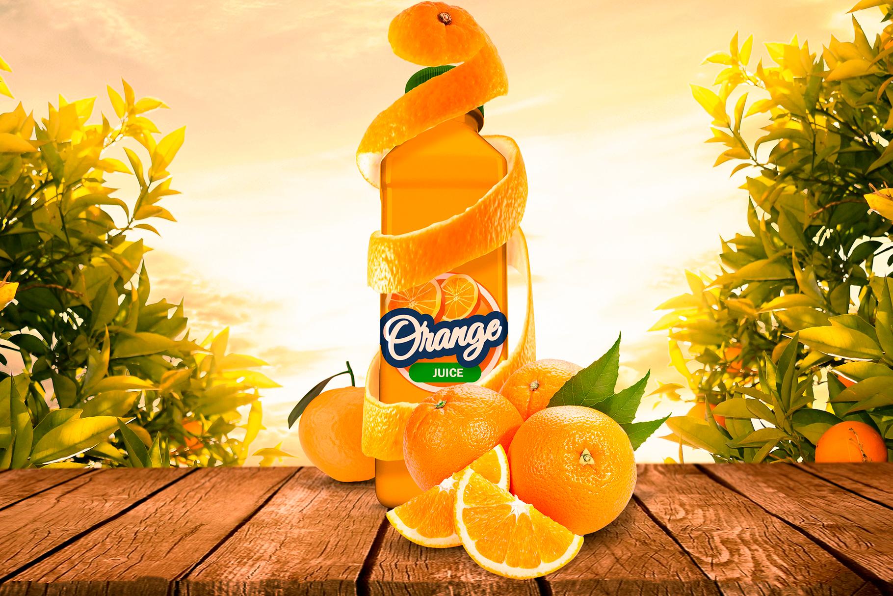 Bottle Juice Mockup Advertising example image 1