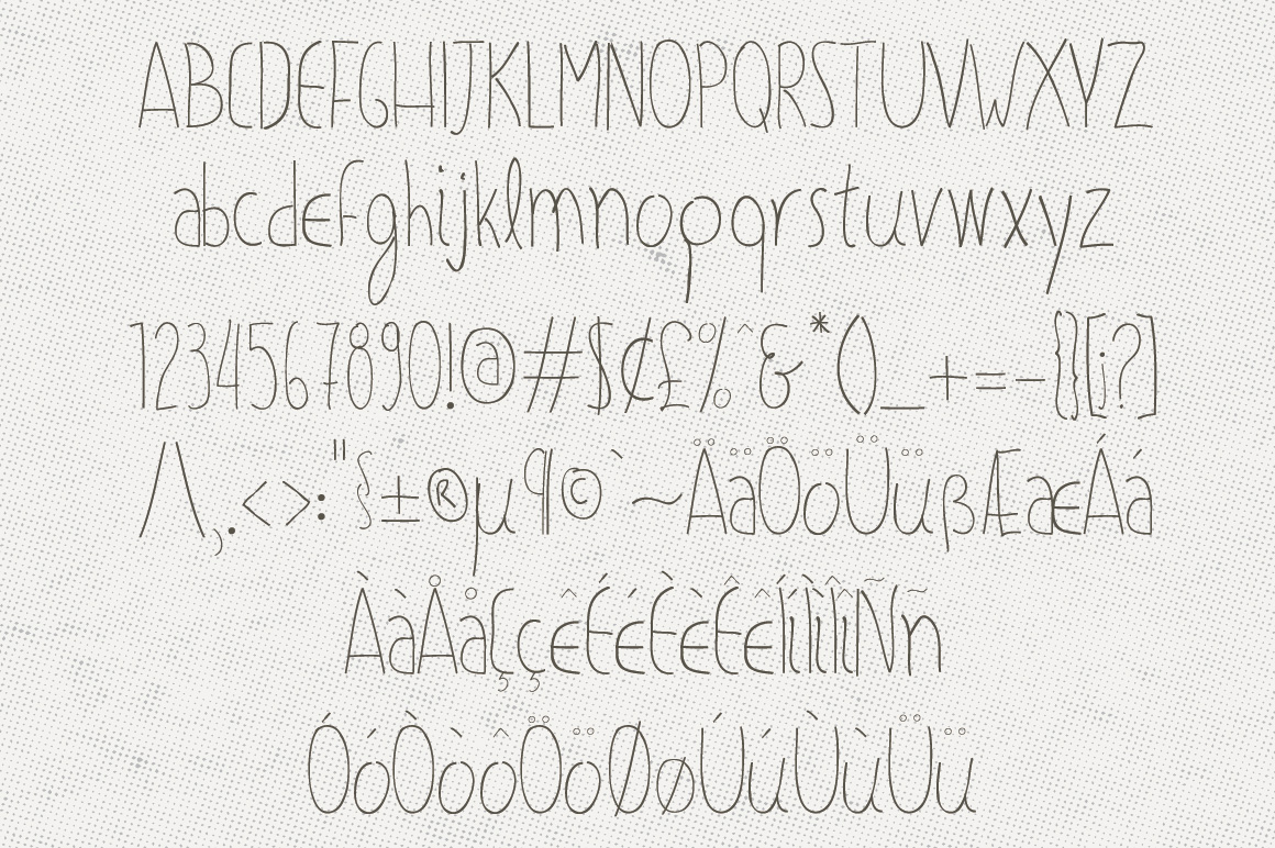 Olive Hand Drawn Font + Decorations example image 2