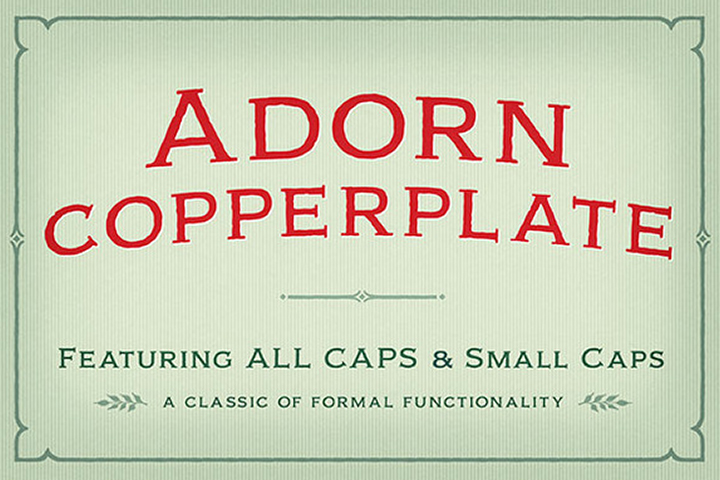 Adorn Copperplate example image 1