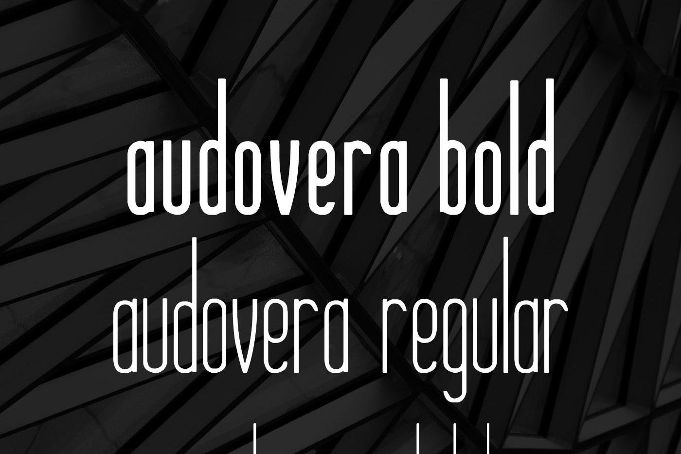 Audovera typeface example image 5