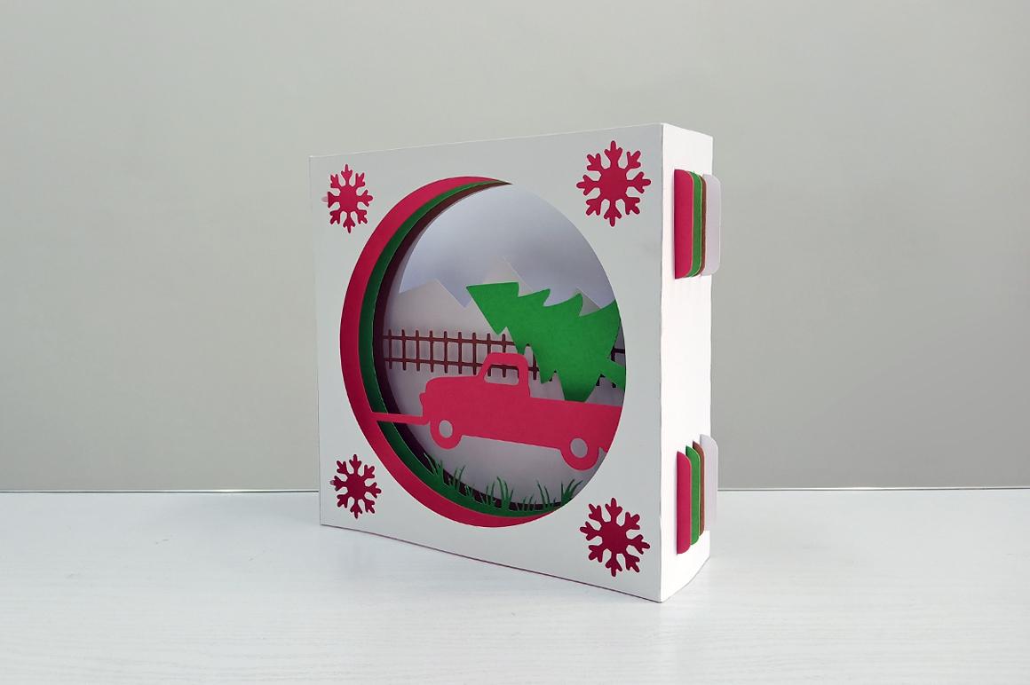DIY Christmas Card - 3d papercraft example image 5