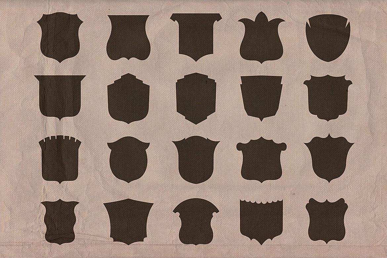 Retro/Vintage shapes - Shields 2 example image 3
