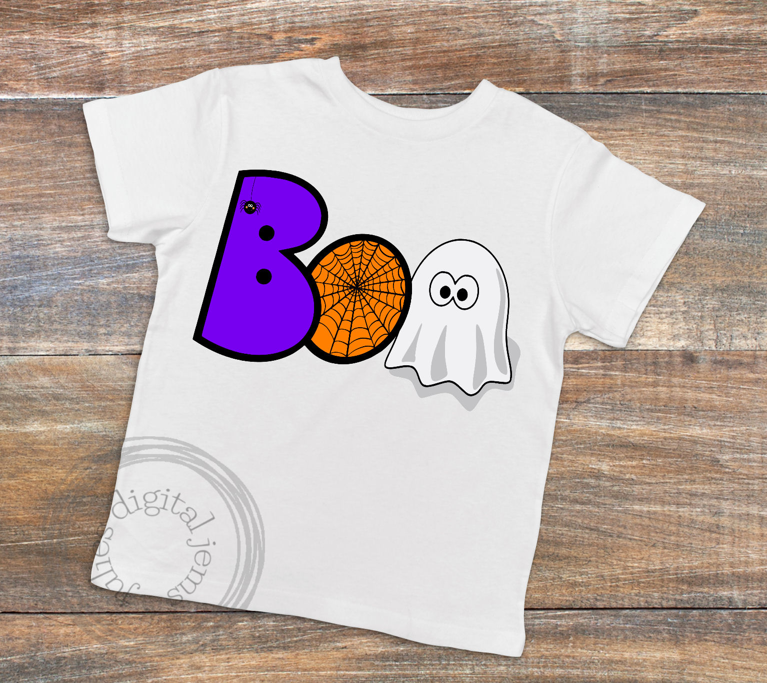 Boo web ghost SVG, Halloween svg, by Julies digital jems example image 2