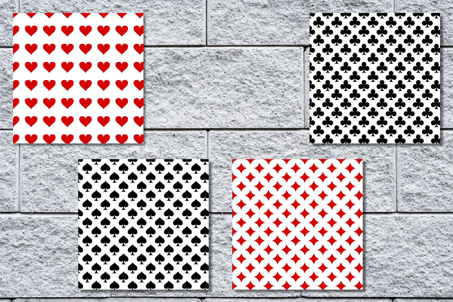 Playing Card Suits - Digital Wall,Playing Card Pattern, SALE example image 2