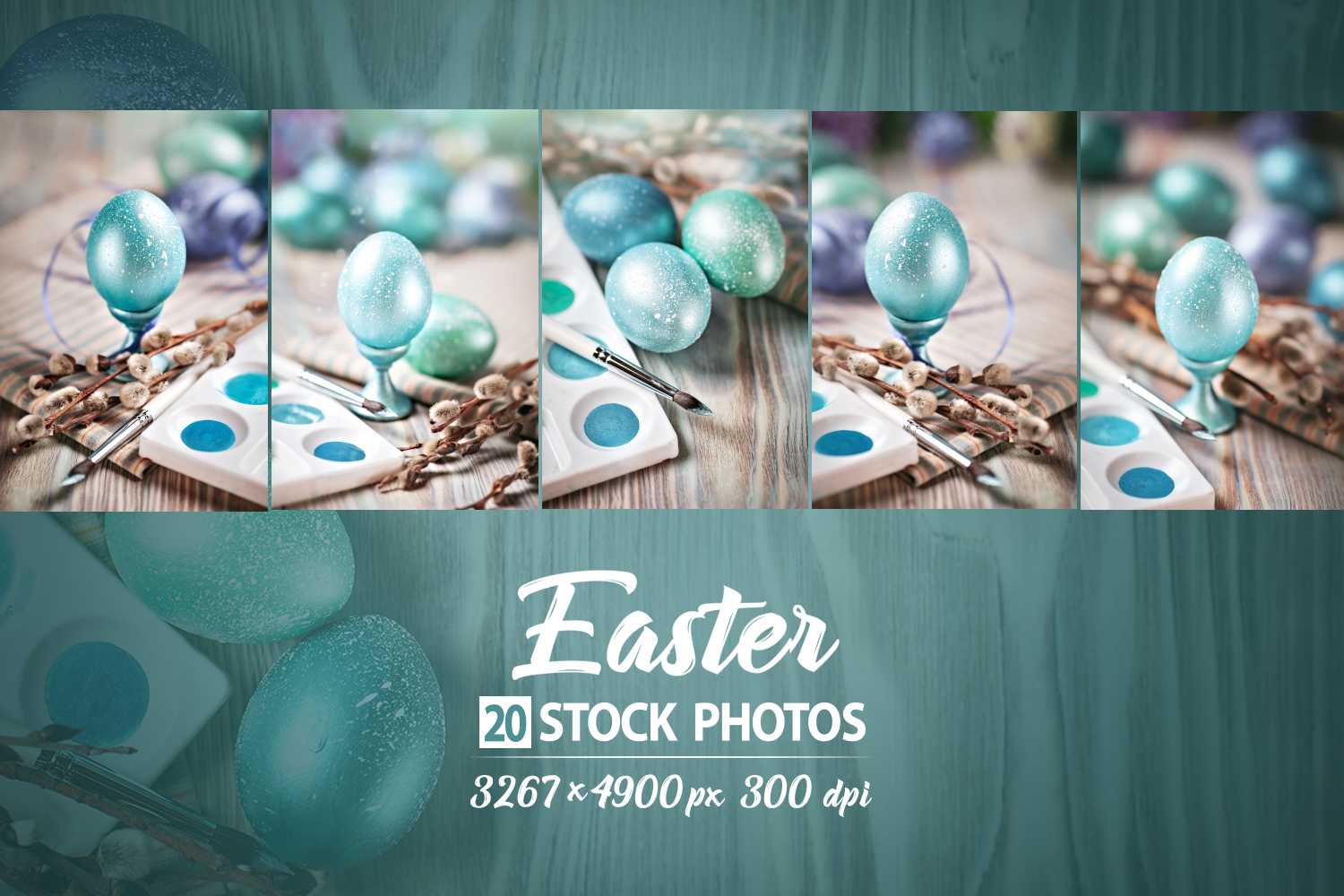 Bundle of greeting Easter backgrounds. example image 13