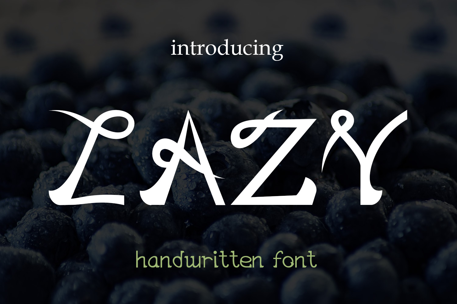 EP Lazy - handwritten font example image 1
