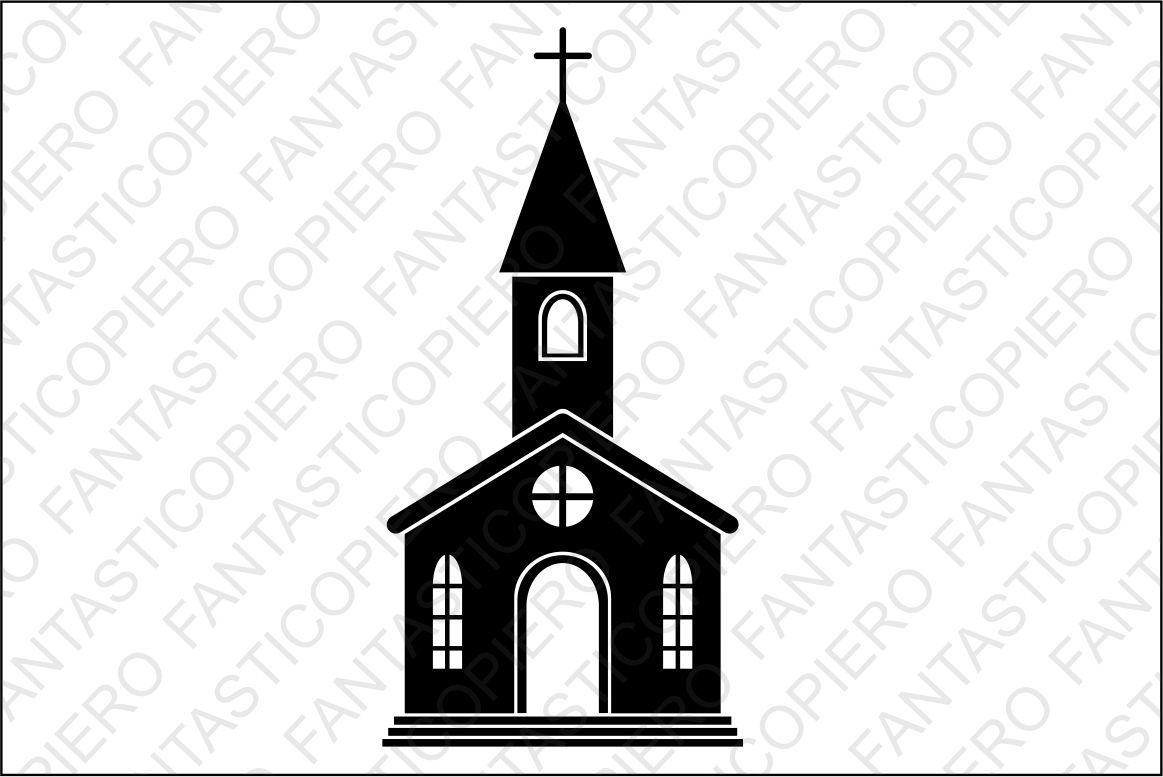 Church SVG files for Silhouette and Cricut. example image 1