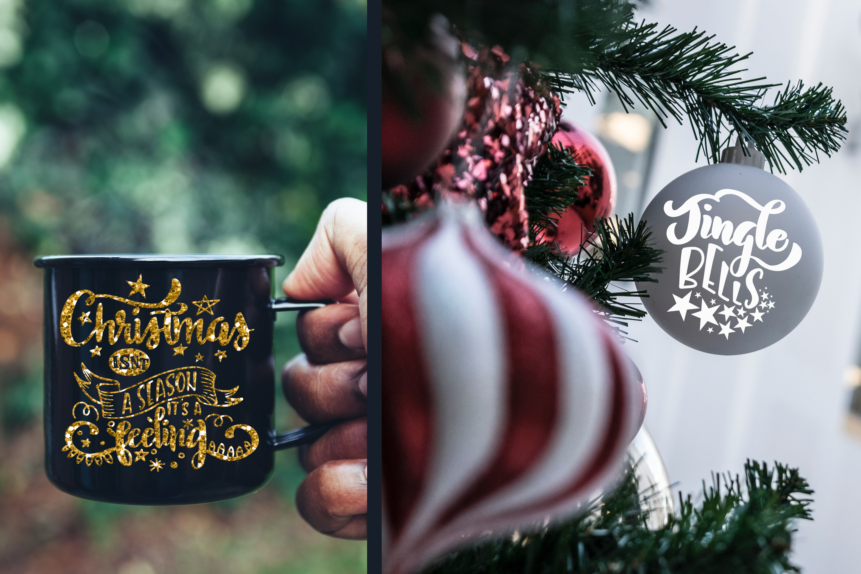 Christmas svg BUNDLE BIG set of 80 quotes example image 12