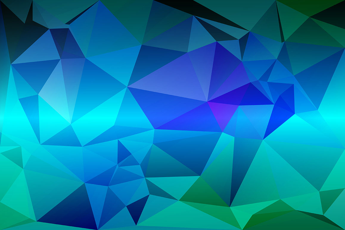Polygon vector backgrounds set example image 15