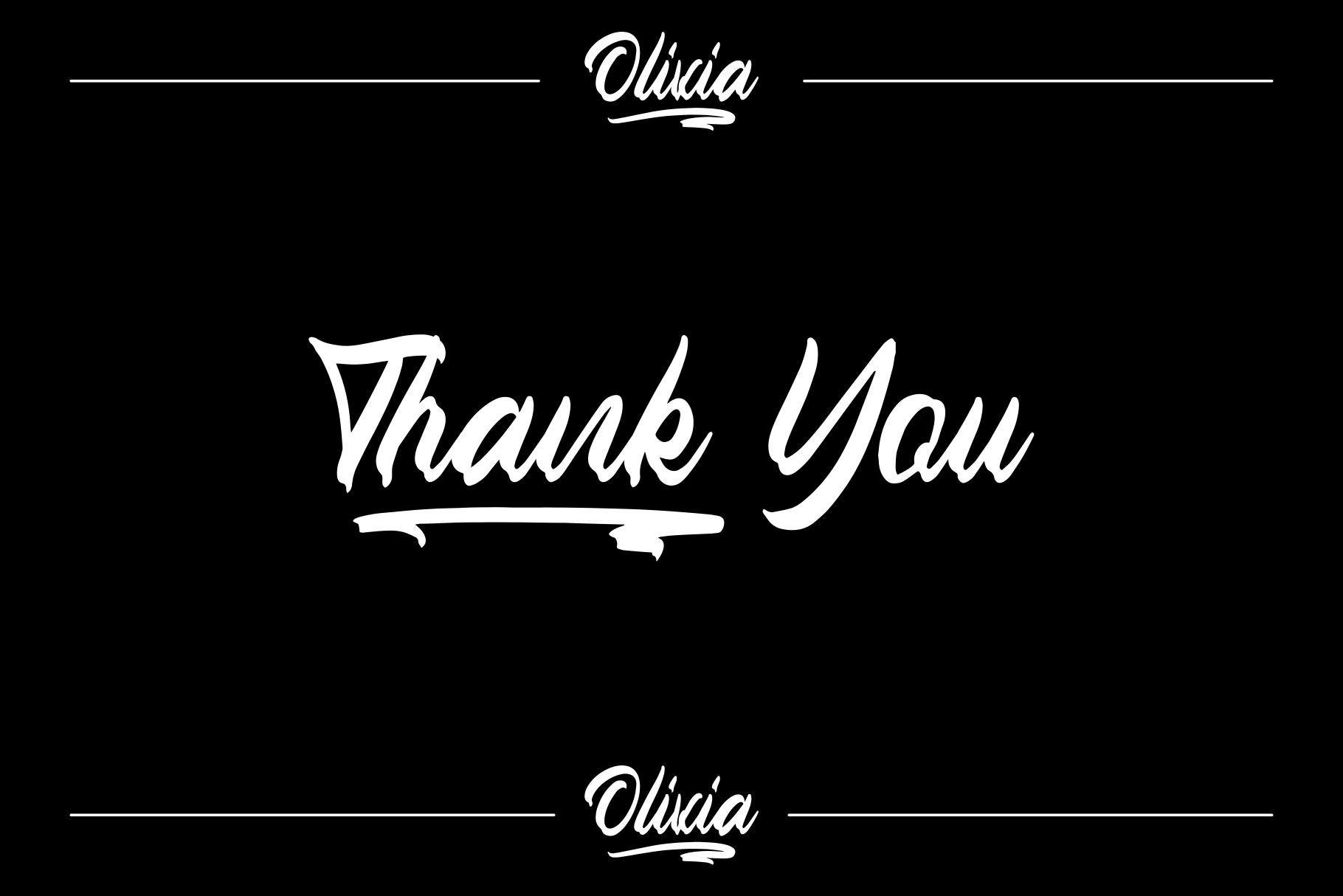OLIVIA Handlettering Fonts example image 5