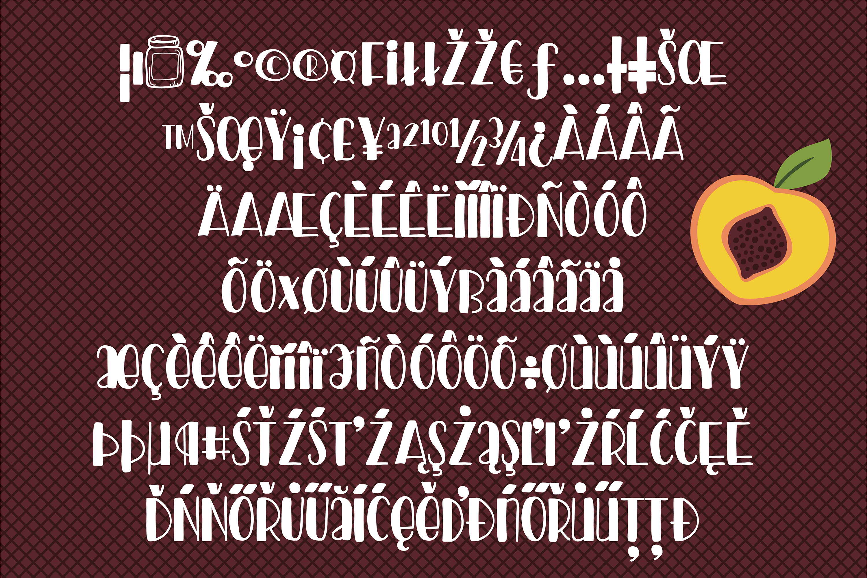 PN Peach Preserves Font Duo example image 5