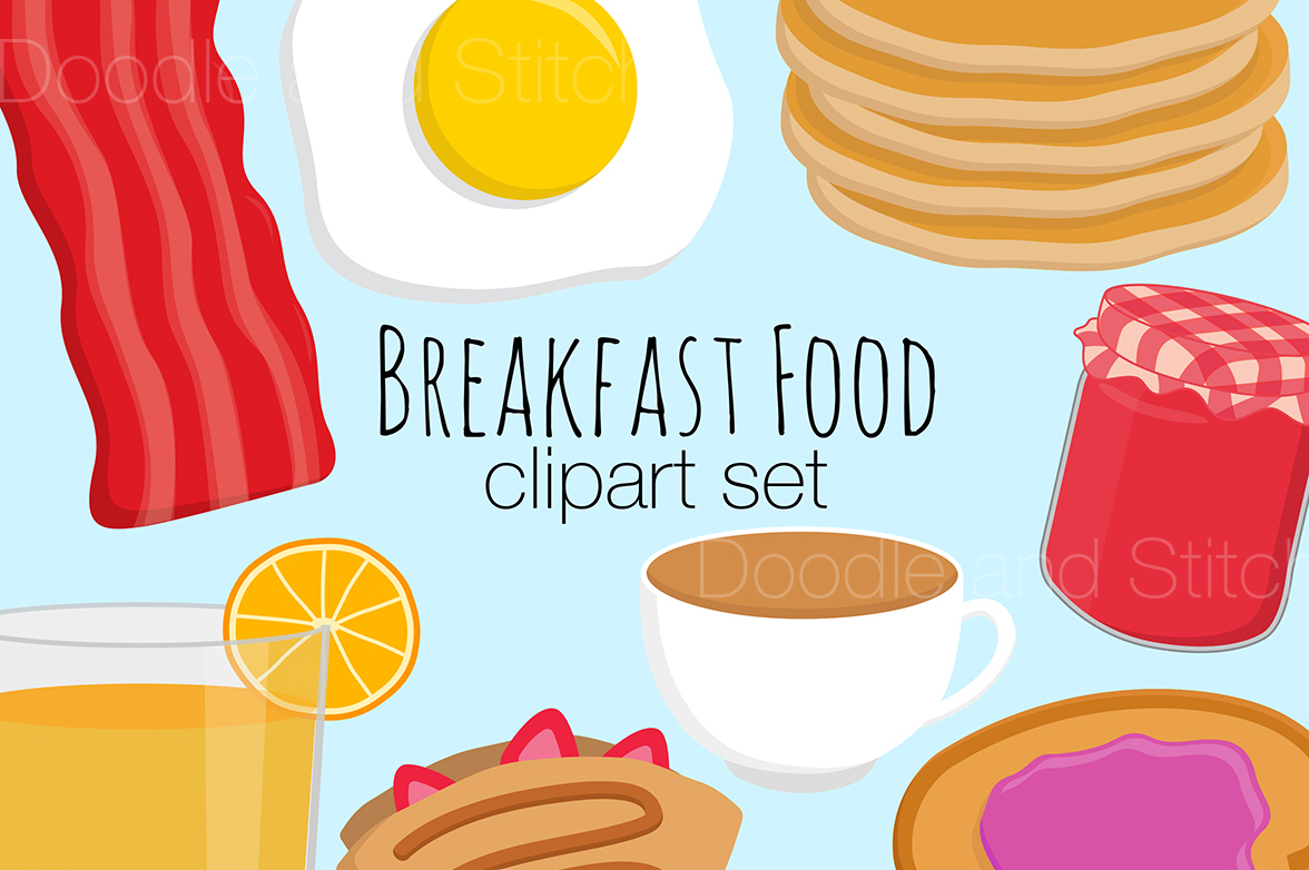 breakfast food clipart illustrations by design bundles rh designbundles net breakfast food clipart breakfast food clip art free