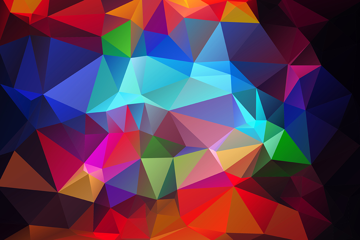 Polygon vector backgrounds set example image 13