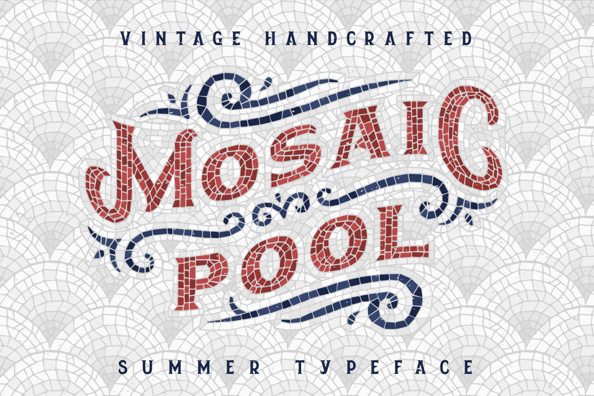 Mosaic Pool Typeface example image 1