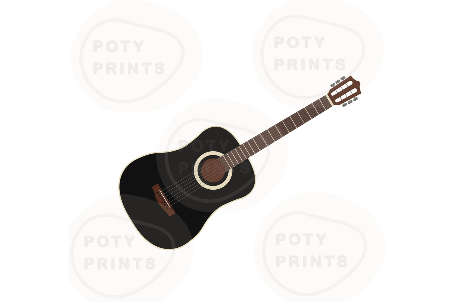 Acoustic guitar SVG files example image 1