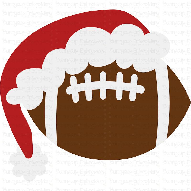 Christmas Football - SVG, Clipart, Printable example image 2