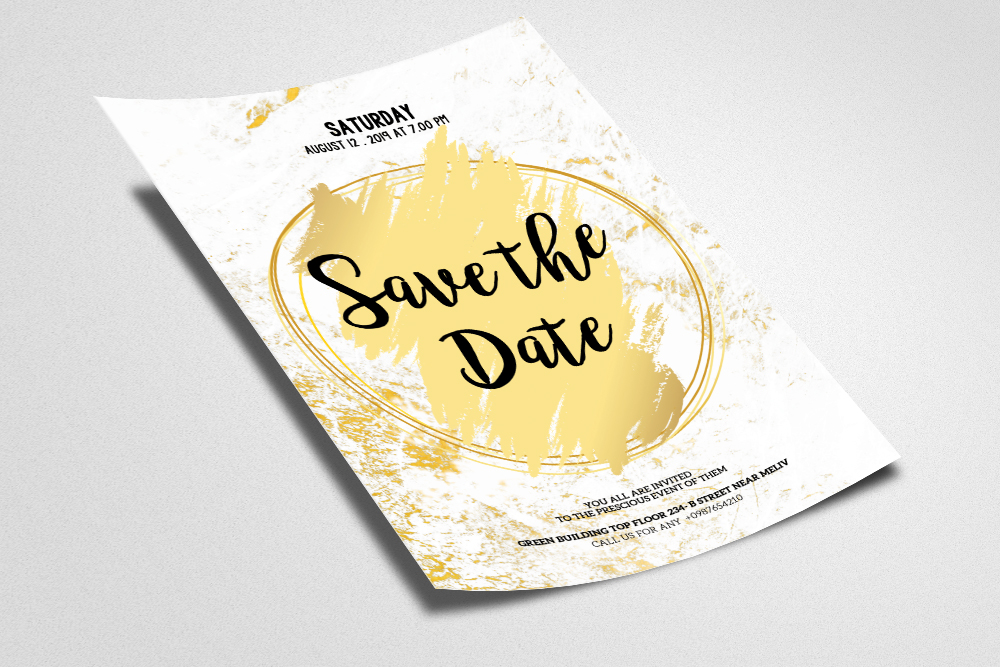 Save The Date Flyer Template example image 2