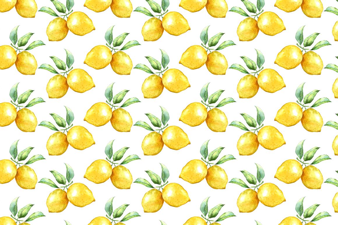 Watercolor lemon set example image 4