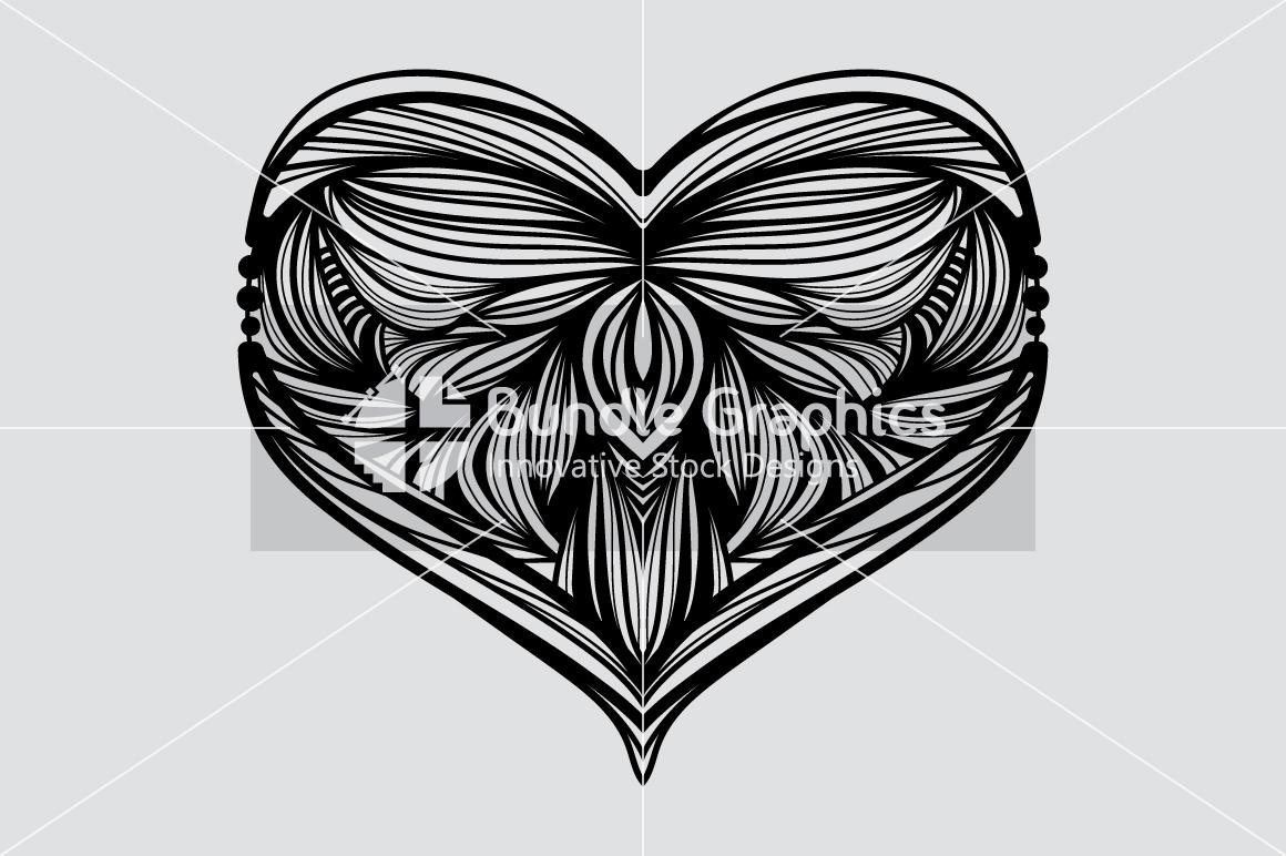 Heart Symbol - Symmetrical Design example image 3