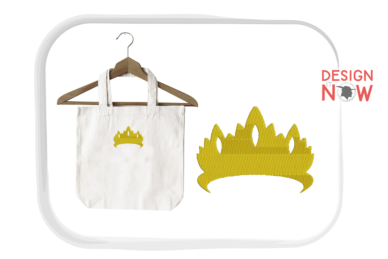 Princess Embroidery Design, Crown Embroidery Pattern example image 4