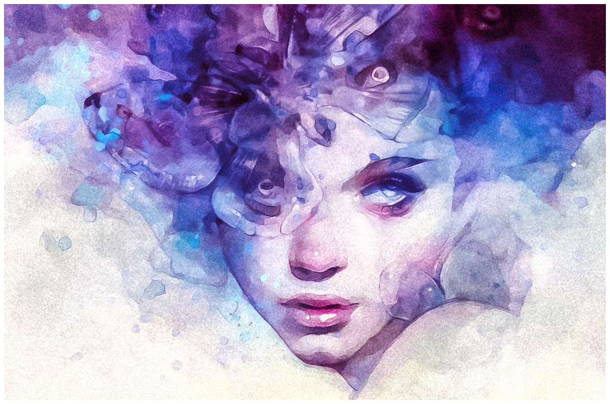 Lovely Watercolor Effect | Photoshop Actions example image 14
