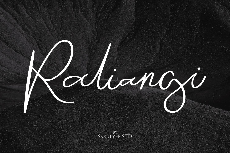 Raliangi Font example image 1