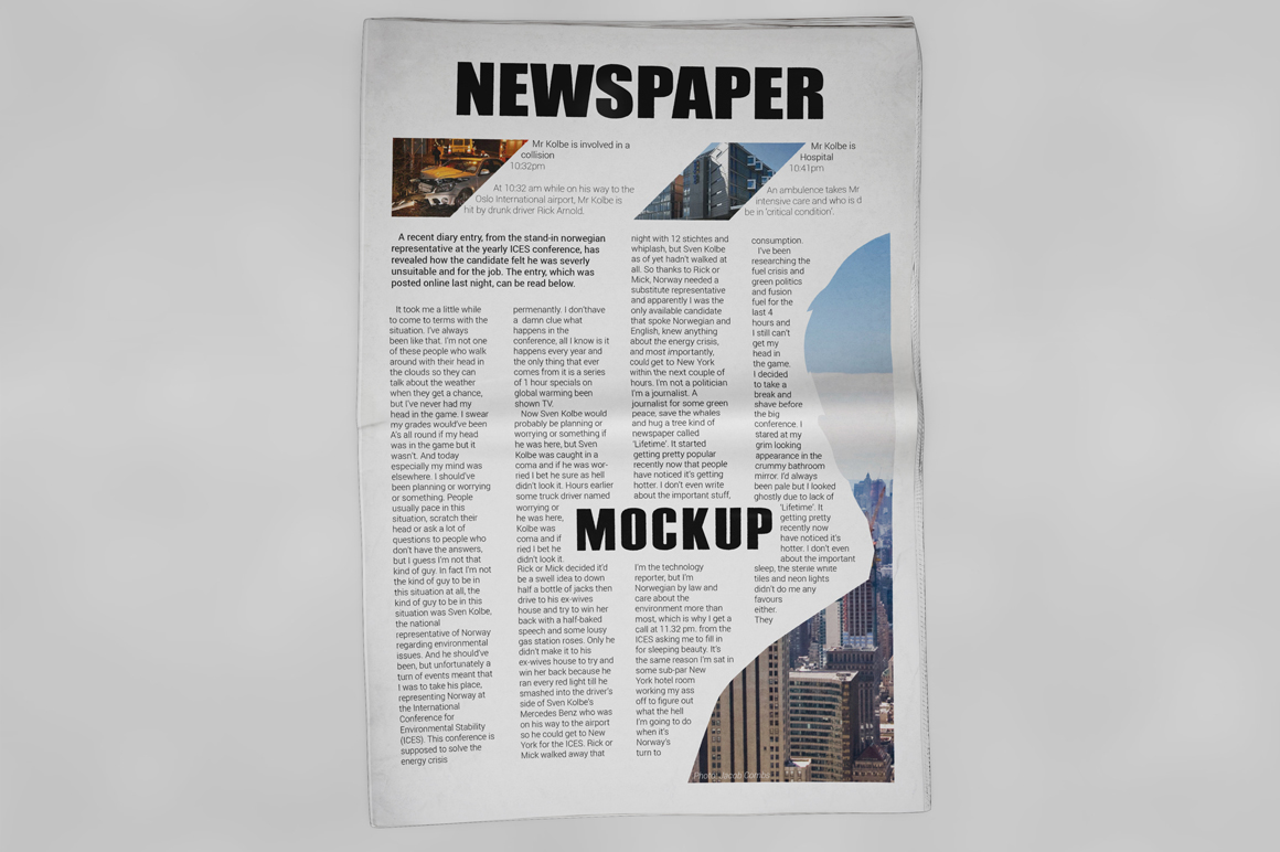 Newspaper Mockup example image 15