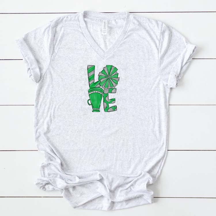 Cheer Love Green and Gray example image 2