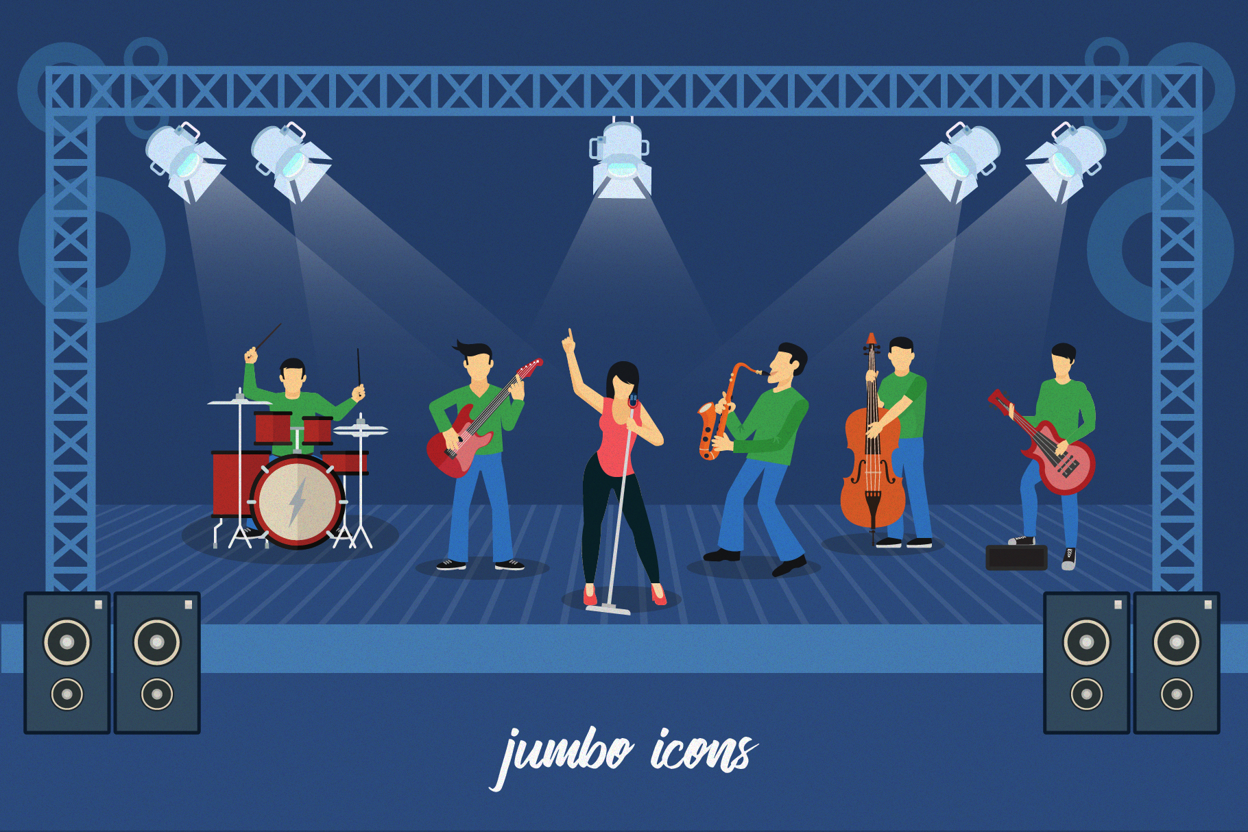 Flat Vector Icons Music Pack V2 example image 2