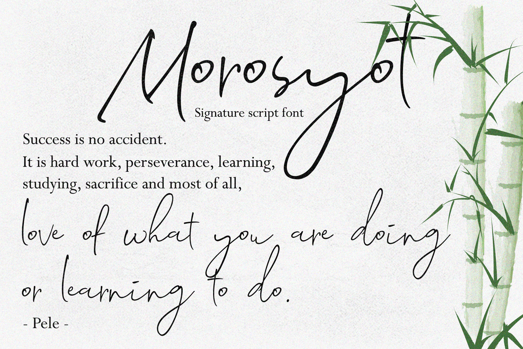 Morosyot Script Signature example image 10