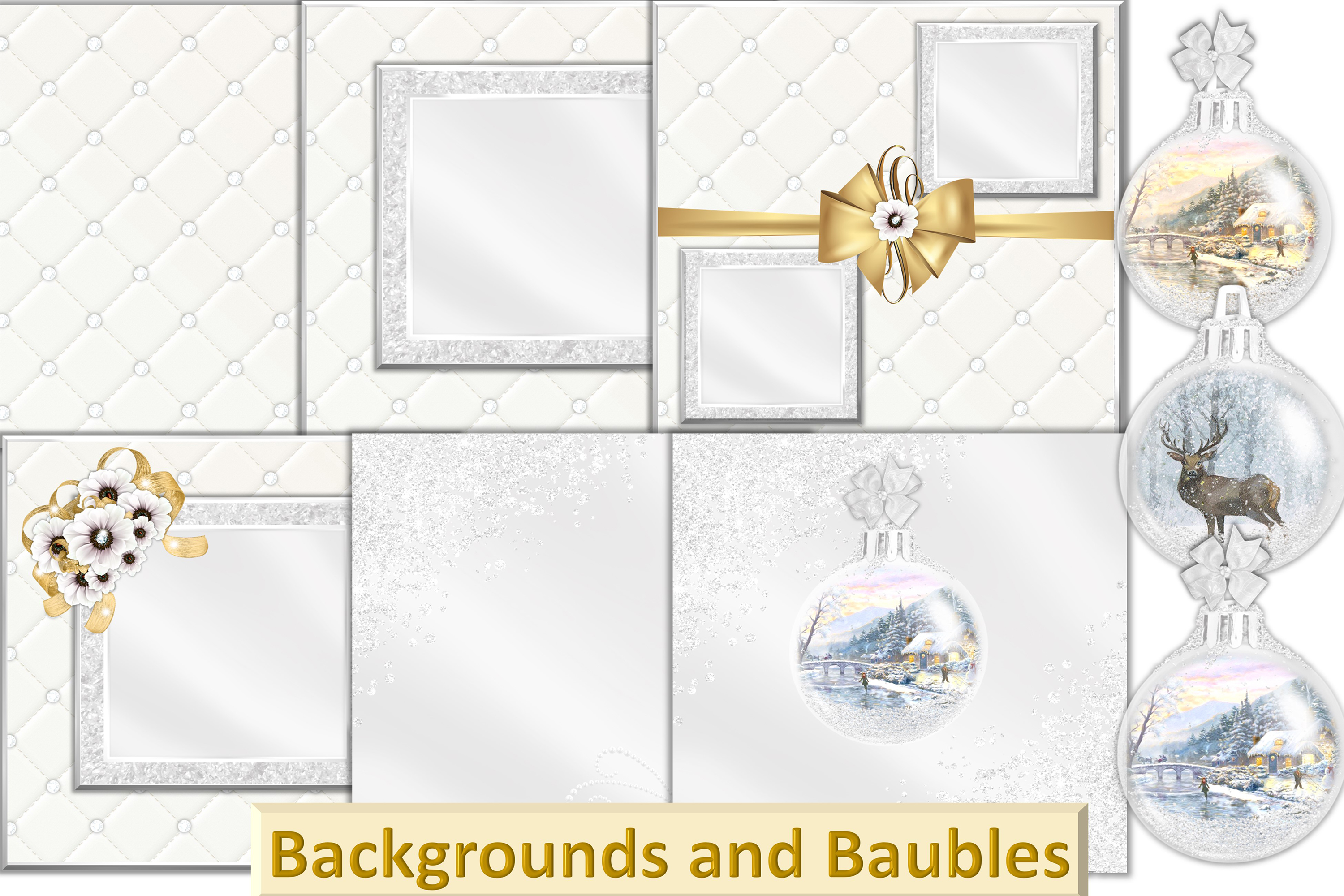 Christmas Clipart Bundle Commercial Use with FREE card kit example image 4