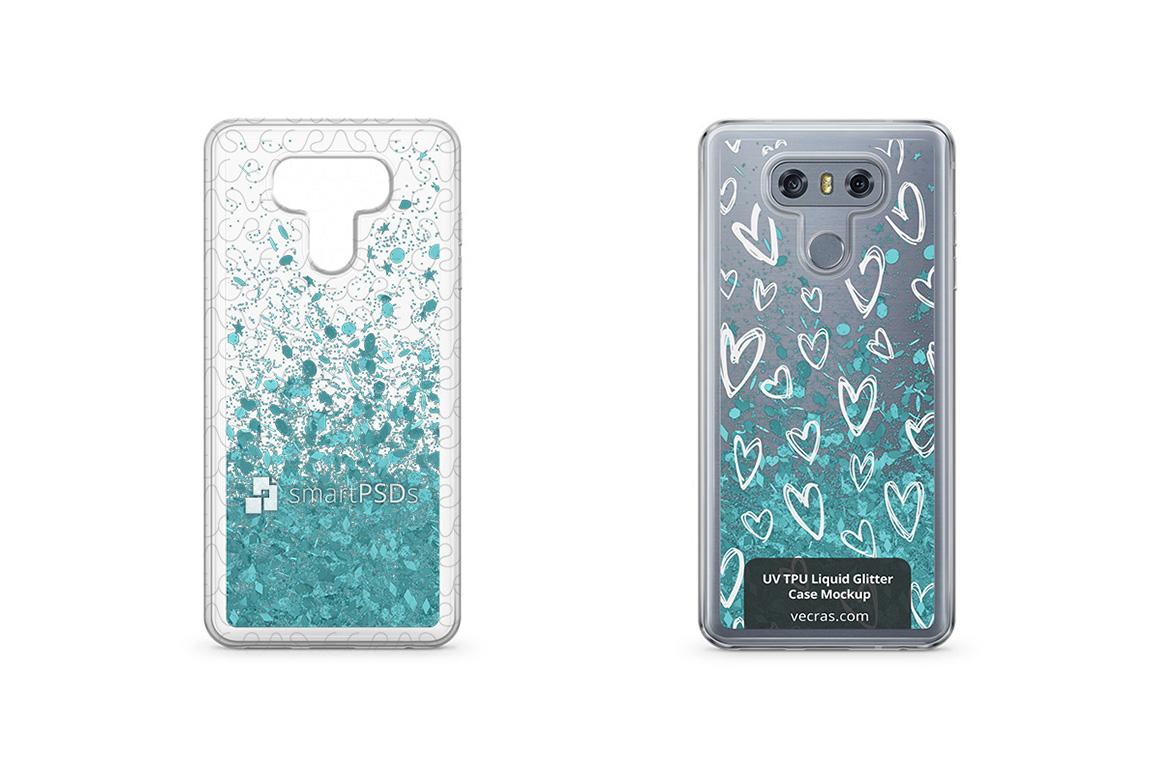 LG G6 UV TPU Liquid Glitter Case Design Mock- example image 1