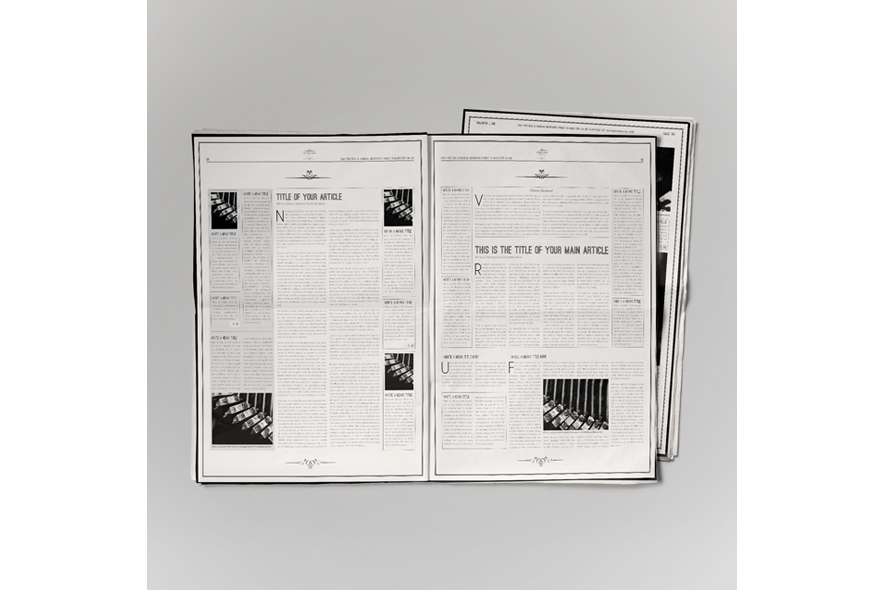 Classic Newspaper Template example image 4