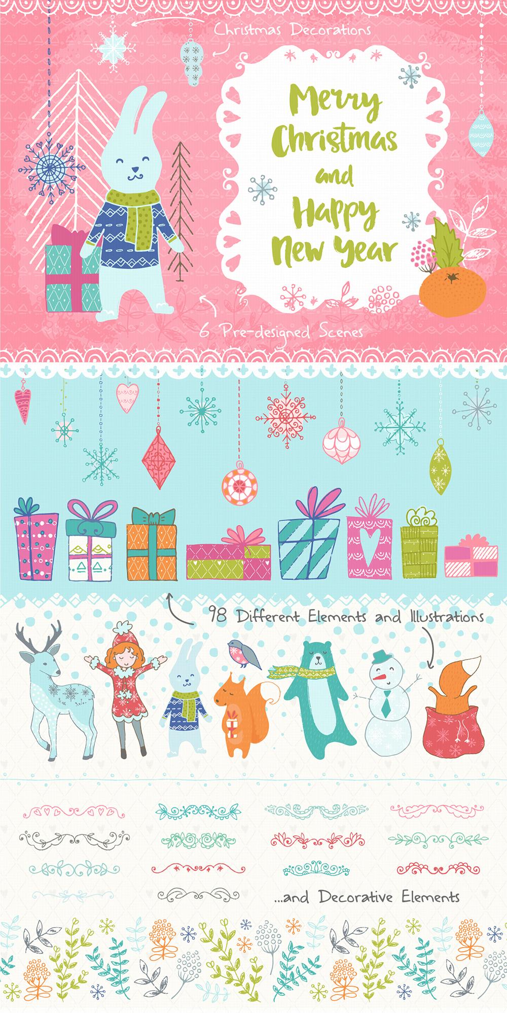 Christmas Hand Drawn Collection example image 2
