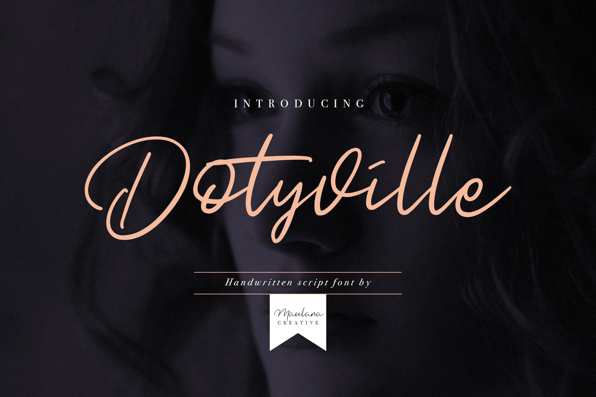 Dotyville Script Font example image 1