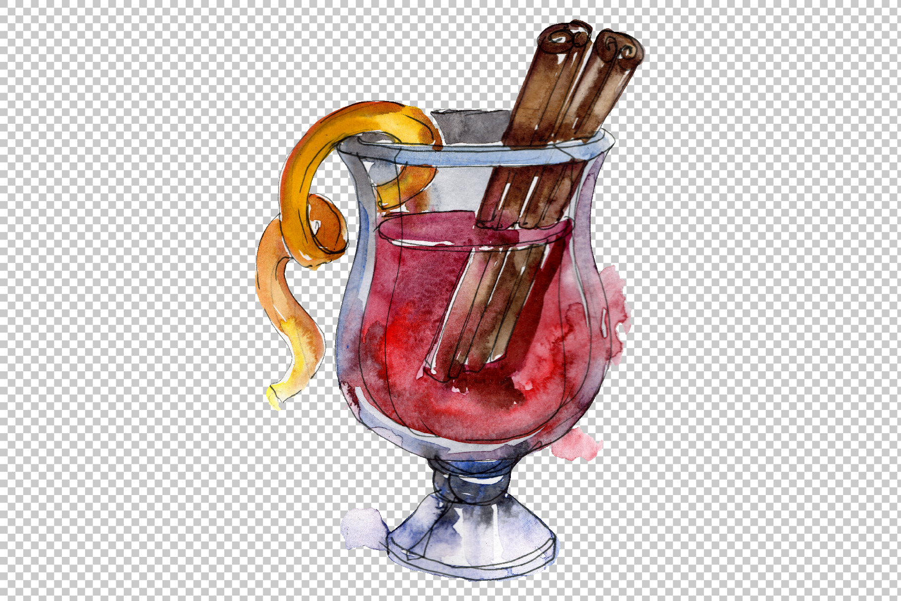 Drinks for men Watercolor png example image 5