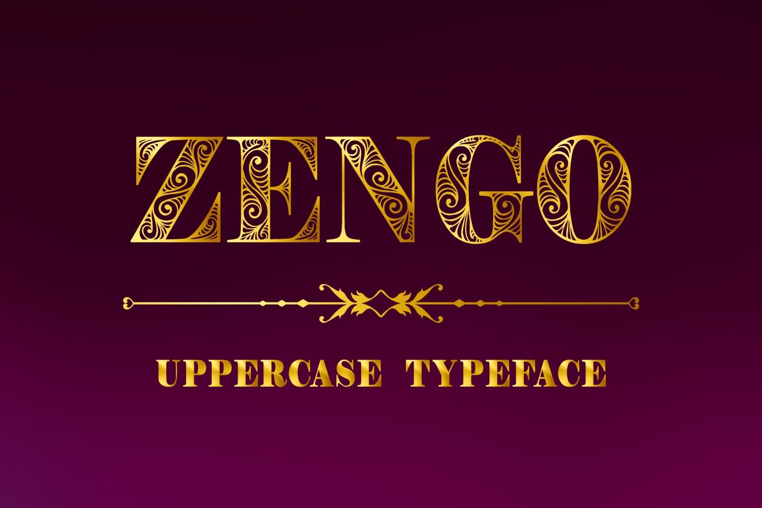 Zengo font example image 2