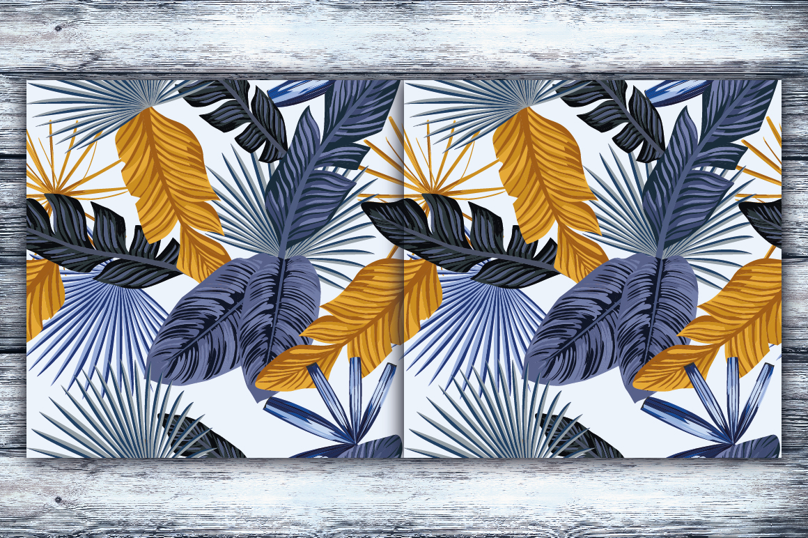 Abstract seamless tropical pattern example image 3