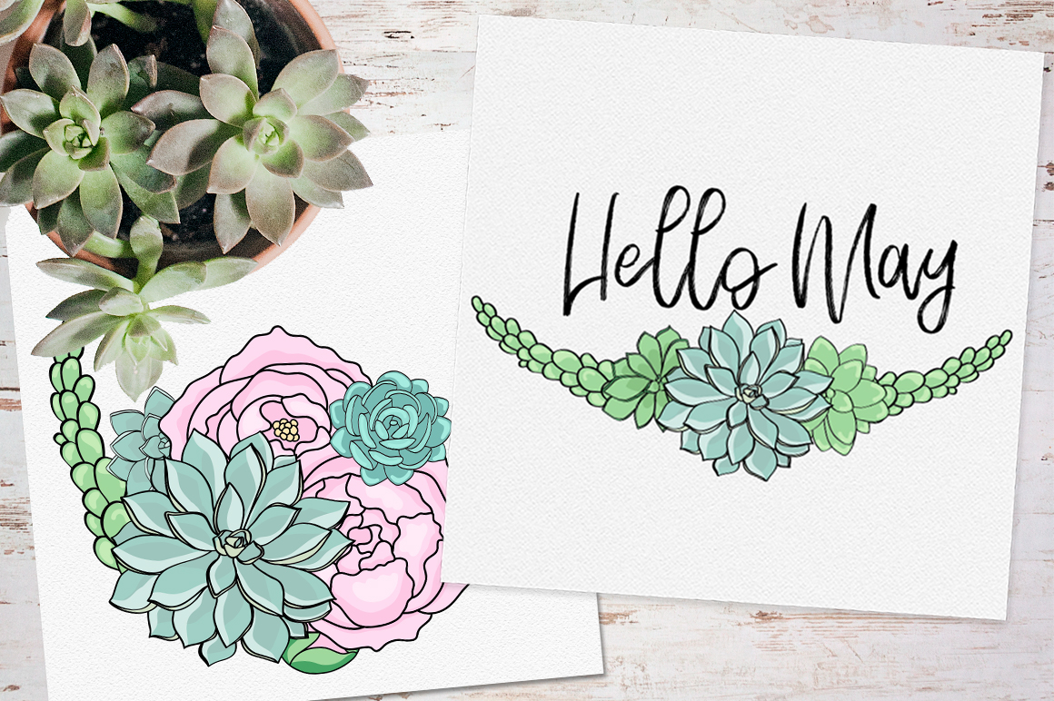 Peonies and Succulents example image 6