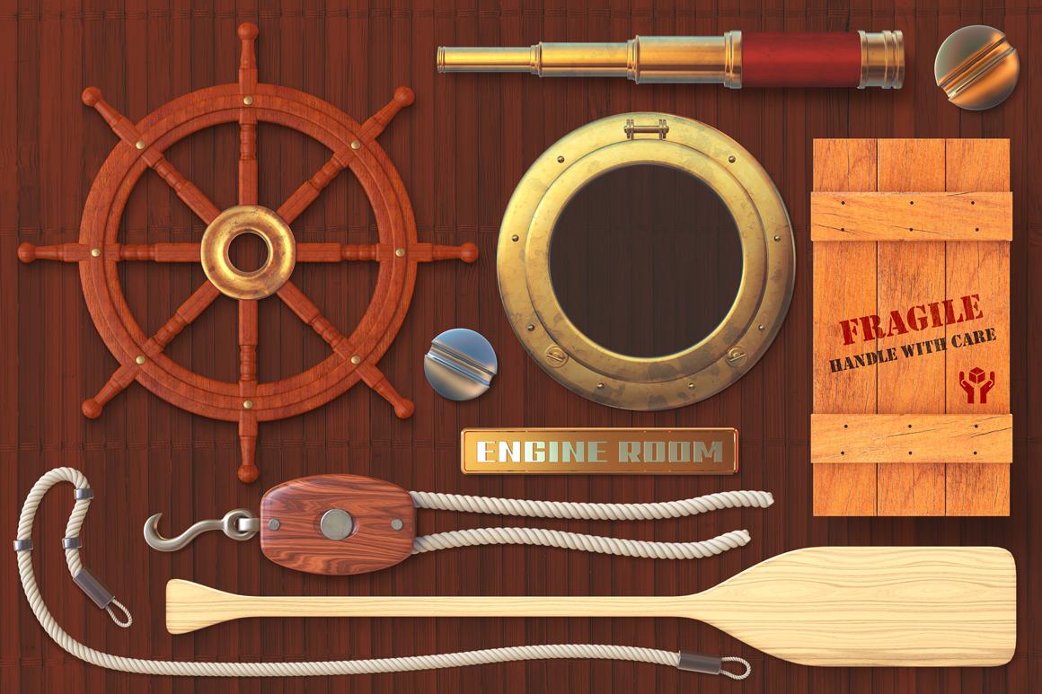 Isolated Nautical Items example image 2