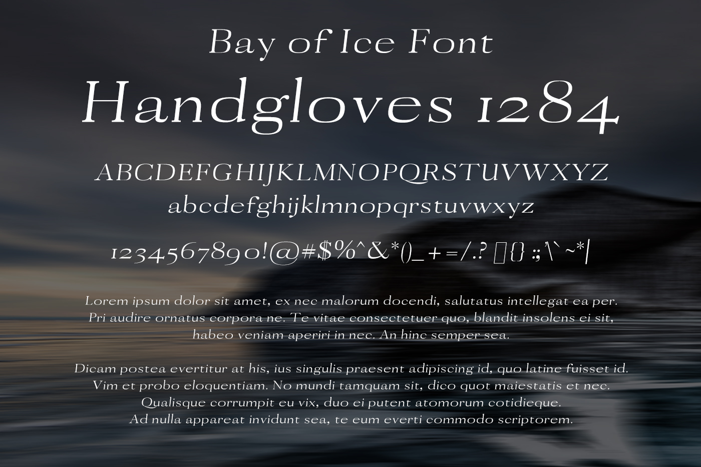 Bay of Ice Font example image 2