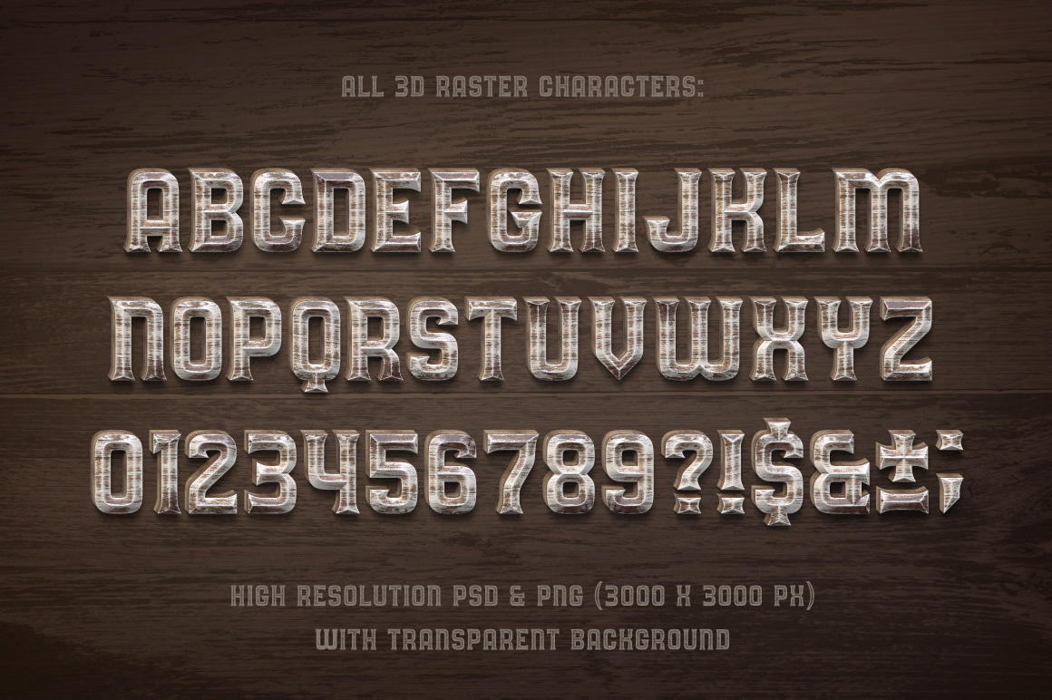 Oak Lumber Font example image 2