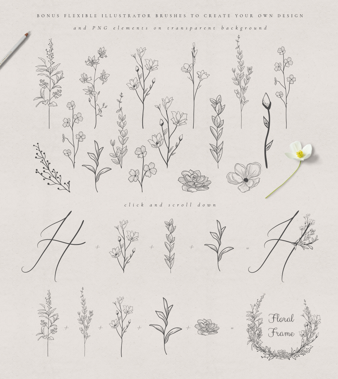 Flowered Monogram & Logo Collection example image 16